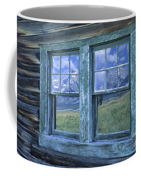Grand Teton Coffee Mug featuring the photograph A View To The Tetons by Sandra Bronstein