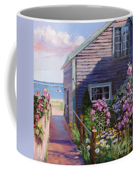 Laura Zanghetti Coffee Mug featuring the painting A Visit To P Town Two by Laura Lee Zanghetti