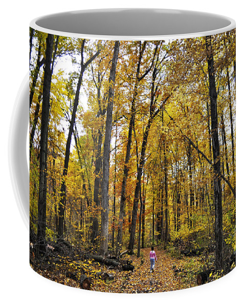 Dunes Coffee Mug featuring the photograph A Walk In The Dune Land Forest by Verana Stark