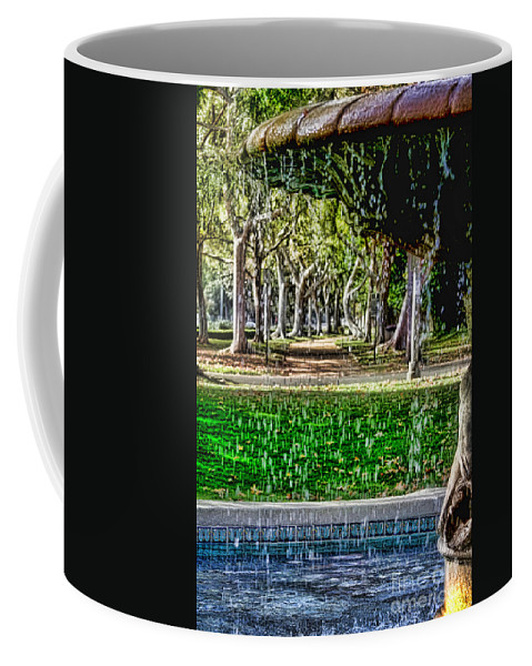 Fountain Coffee Mug featuring the photograph A Walk In The Park By Diana Sainz by Diana Raquel Sainz