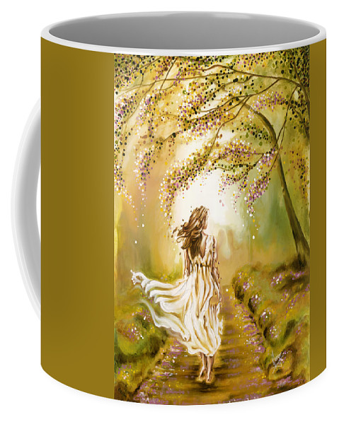 Karina Llergo Coffee Mug featuring the painting A Walk In The Park by Karina Llergo
