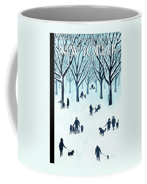 Snow Coffee Mug featuring the painting A Walk In The Snow by Mark Ulriksen