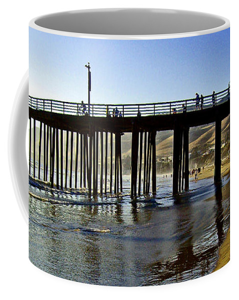 Boardwalks Coffee Mug featuring the photograph A Walk On The Beach by Joseph Coulombe