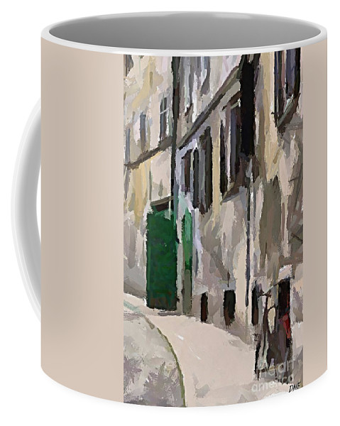Cityscape Coffee Mug featuring the painting A Way To The Castle by Dragica Micki Fortuna