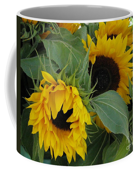 Sunflower Coffee Mug featuring the photograph A Wink And A Nod by Arlene Carmel