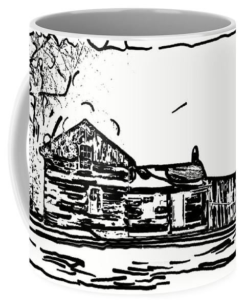 Log Cabin Coffee Mug featuring the photograph A Winter Dream 3 by Steve Harrington