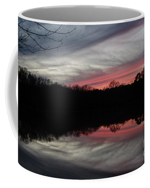 Sunset Coffee Mug featuring the photograph A Christmas Winter Sunset by Donna Brown