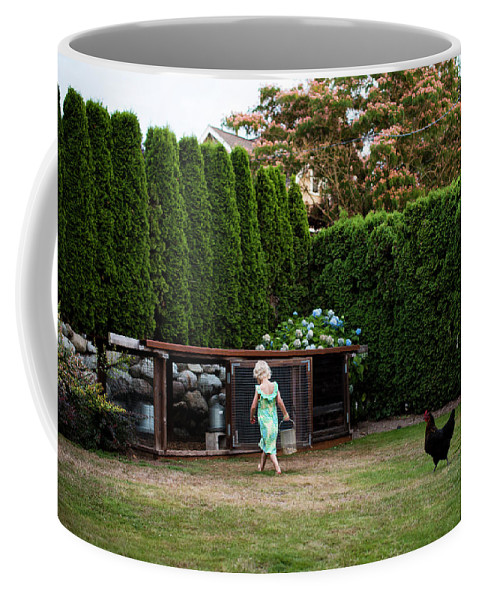 5-6 Years Coffee Mug featuring the photograph A Young Girl Runs by Michael Hanson