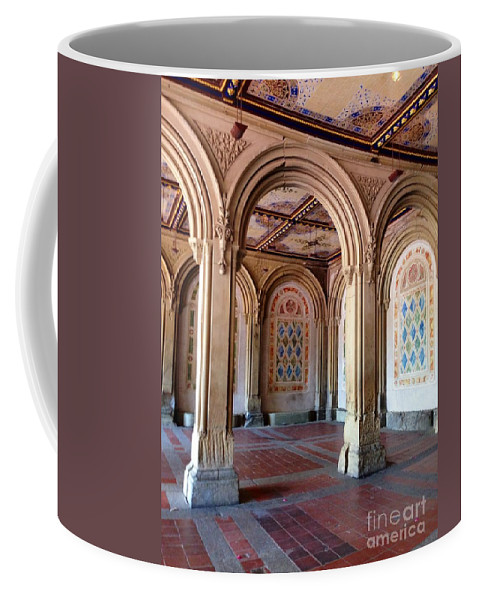 Arches Coffee Mug featuring the photograph Architecture In Central Park by Christy Gendalia