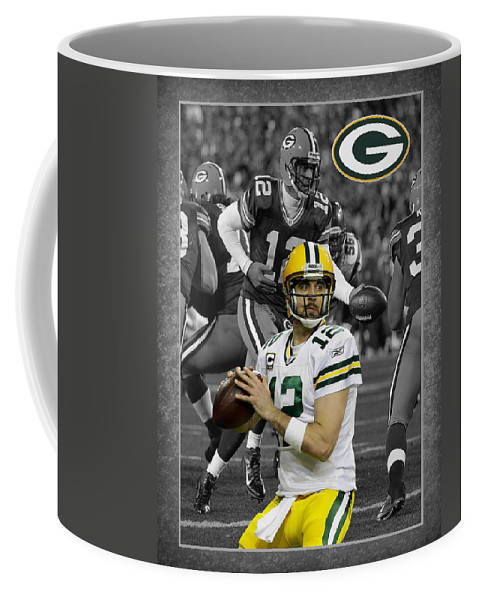 Aaron Rodgers Coffee Mug featuring the photograph Aaron Rodgers Packers by Joe Hamilton