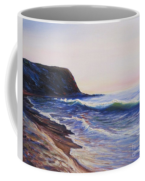 Abalone Cove Coffee Mug featuring the painting Abalone Cove by Frederick Luff
