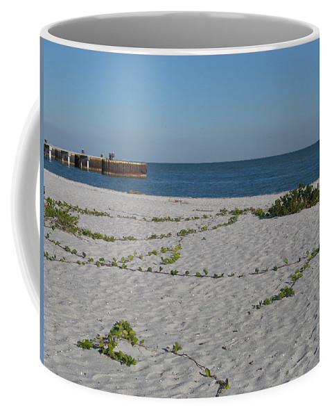 Pier Coffee Mug featuring the photograph Abandonded Pier by Christiane Schulze Art And Photography