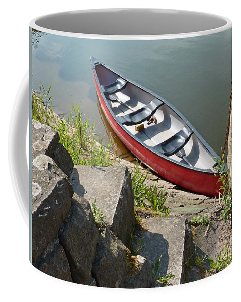 Abandoned Coffee Mug featuring the photograph Abandoned Boat At The Quay by Eva-Maria Di Bella