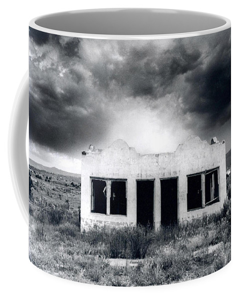 Photography Coffee Mug featuring the photograph Abandoned Gas Station In Nm by Timothy Bischoff
