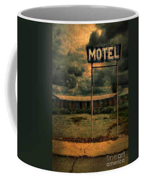 Abandoned Coffee Mug featuring the photograph Abandoned Motel by Jill Battaglia