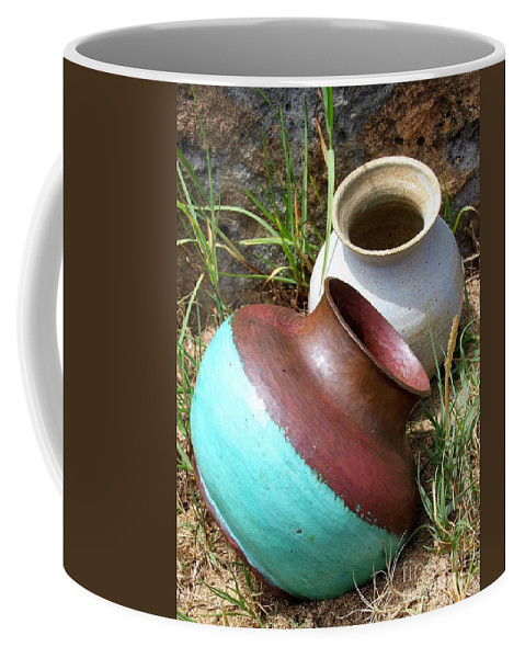 Abandoned Pots Coffee Mug featuring the photograph Abandoned Pots by Mary Deal