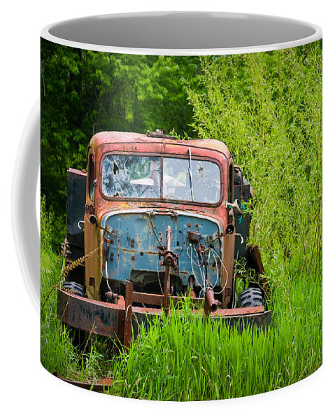 3scape Photos Coffee Mug featuring the photograph Abandoned Truck In Rural Michigan by Adam Romanowicz