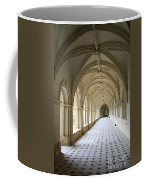 Cloister Coffee Mug featuring the photograph Abbaye De Frontevraud Cross Coat by Christiane Schulze Art And Photography
