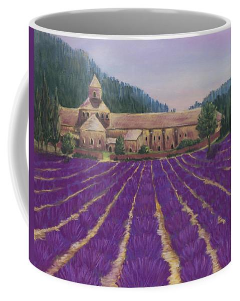 Malakhova Coffee Mug featuring the painting Abbaye Notre-dame De Senanque by Anastasiya Malakhova
