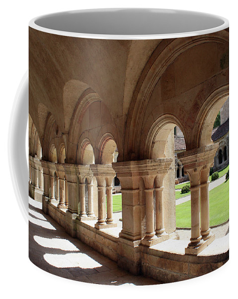 Cloister Vault Coffee Mug featuring the photograph Abbey Fontenay - Cloister Vault by Christiane Schulze Art And Photography