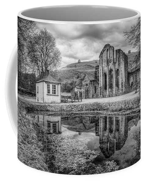 Valle Crucis Coffee Mug featuring the photograph Abbey Reflections by Adrian Evans