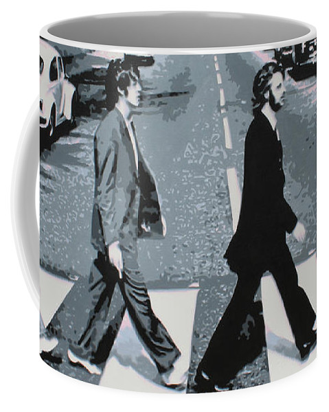 The Beatles Coffee Mug featuring the painting Abbey Road 2013 by Luis Ludzska