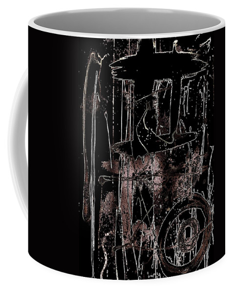 Exo Political Art Coffee Mug featuring the painting Abidjan by Cleaster Cotton