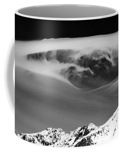 Lofoten Islands Coffee Mug featuring the photograph Above The Peaks by Dave Bowman