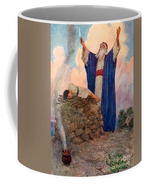 Bible; Abraham; Isaac; Mount Moriah; Sacrifice Coffee Mug featuring the painting Abraham And Isaac On Mount Moriah by William Henry Margetson