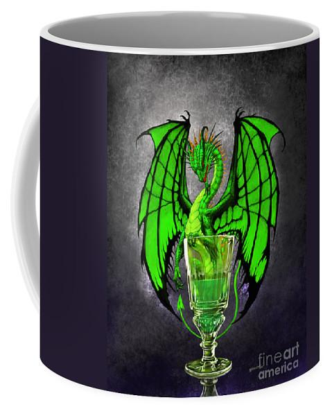 Dragon Coffee Mug featuring the digital art Absinthe Dragon by Stanley Morrison