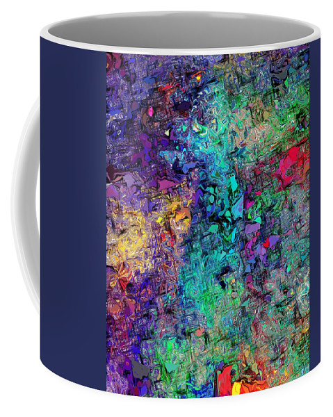 Abstract Coffee Mug featuring the digital art Abstract 061313 by David Lane