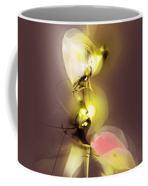 Fine Art Coffee Mug featuring the digital art Abstract 100813 by David Lane