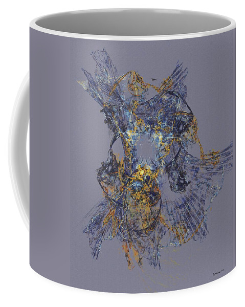 Fine Art Coffee Mug featuring the digital art Abstract 101913 by David Lane