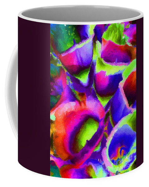 Abstract 102 Coffee Mug featuring the painting Abstract 102 by Barbara Griffin