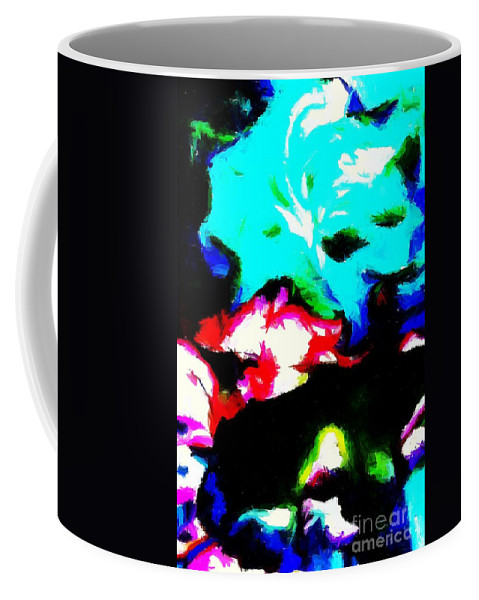 Abstract 105 Coffee Mug featuring the digital art Abstract 105 by Barbara Griffin