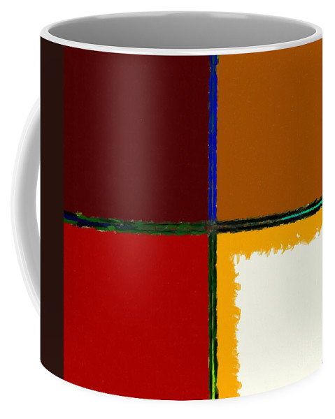 Barbara Griffin Coffee Mug featuring the digital art Abstract 112 by Barbara Griffin