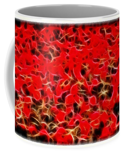 Abstract 124 Red Flowers Coffee Mug featuring the photograph Abstract 124 Red Flowers by Barbara Griffin
