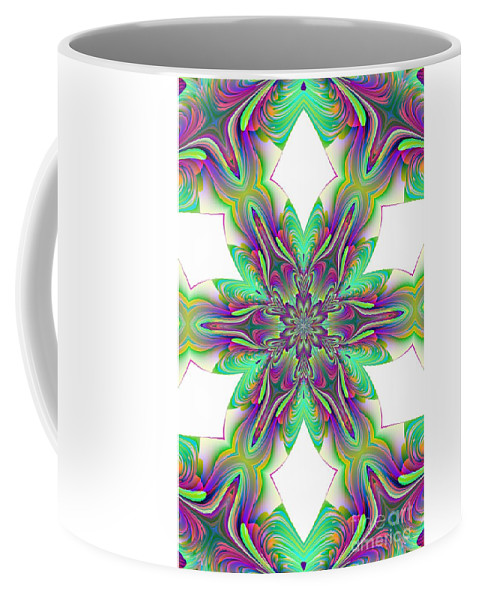 Abstract 156 Coffee Mug featuring the digital art Abstract 156 by Maria Urso