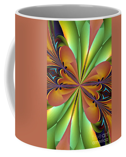 Abstract 159 Coffee Mug featuring the digital art Abstract 159 by Maria Urso