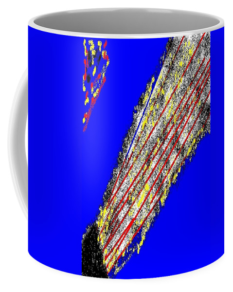 Firework Coffee Mug featuring the painting Abstract #16 by Earnestine Clay