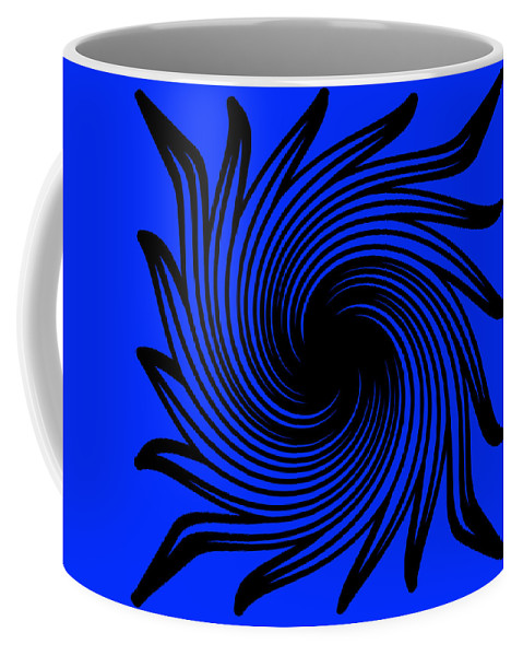 Blue Coffee Mug featuring the photograph Abstract #4 by Judy Whitton