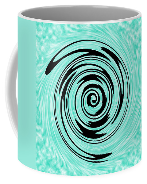 Cyan Coffee Mug featuring the photograph Abstract #5 by Judy Whitton
