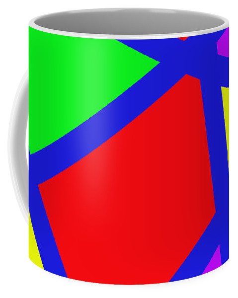 Abstract Coffee Mug featuring the digital art Abstract Art by Snowflake Obsidian