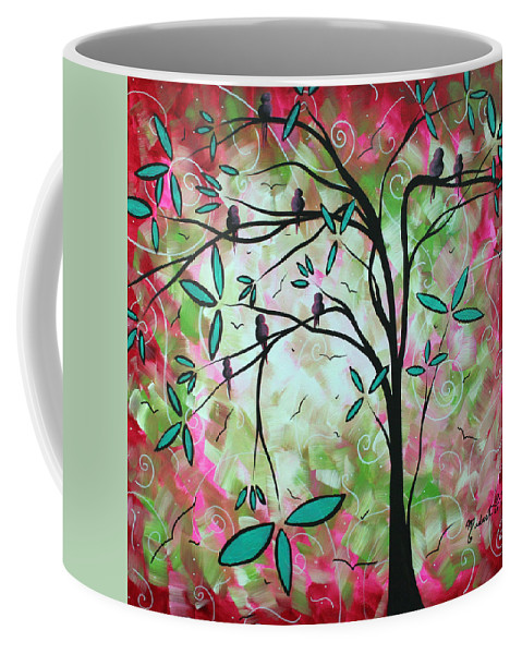 ddc91f818d9801 Abstract Art Original Whimsical Magical Bird Painting Through The Looking  Glass Coffee Mug for Sale by Megan Duncanson