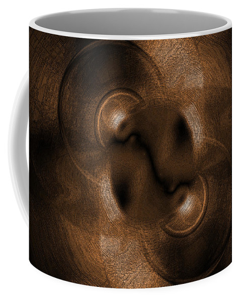 Brown Coffee Mug featuring the digital art Eclipse by Steve Ball