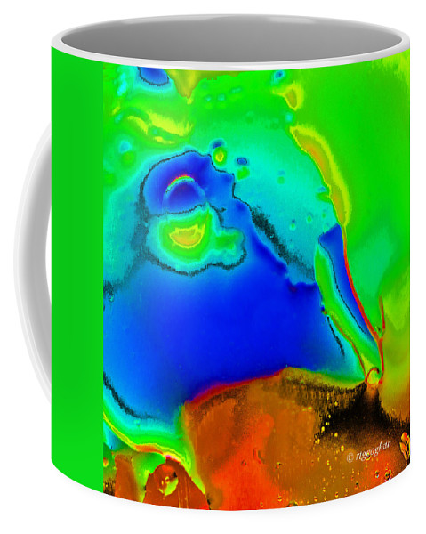 Abstract Photography Coffee Mug featuring the photograph Abstract Color Fun by Regina Geoghan