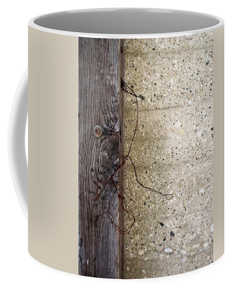 Industrial. Urban Coffee Mug featuring the photograph Abstract Concrete 11 by Anita Burgermeister
