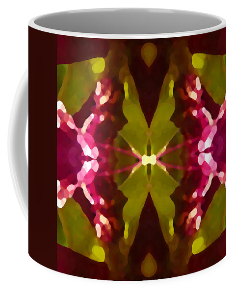 Contemporary Coffee Mug featuring the painting Abstract Crystal Butterfly by Amy Vangsgard