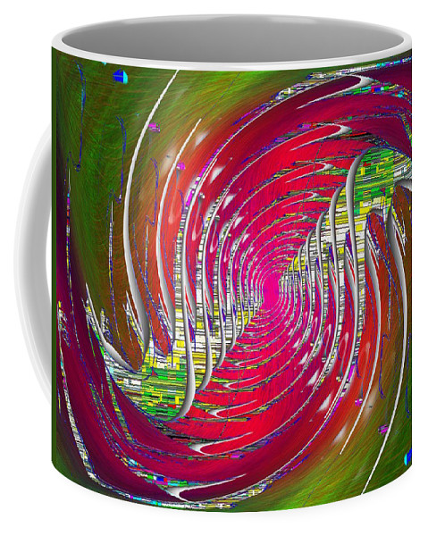 Abstract Coffee Mug featuring the digital art Abstract Cubed 218 by Tim Allen