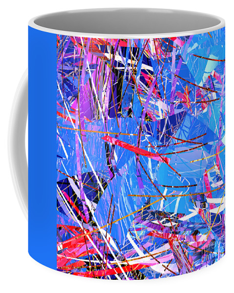 Abstract Coffee Mug featuring the digital art Abstract Curvy 31 by Russell Kightley